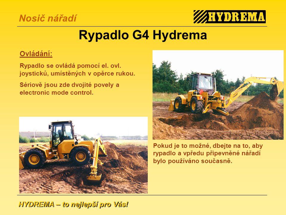 Rypadlo G4 Hydrema Ovládání: