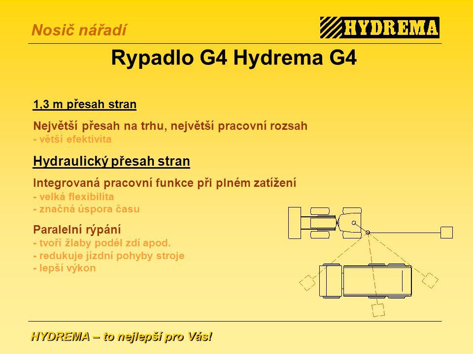 Rypadlo G4 Hydrema G4 Hydraulický přesah stran 1,3 m přesah stran