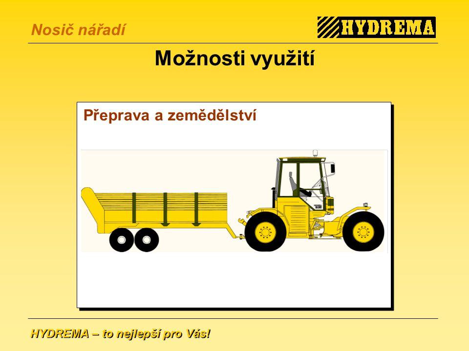 Možnosti využití Přeprava a zemědělství