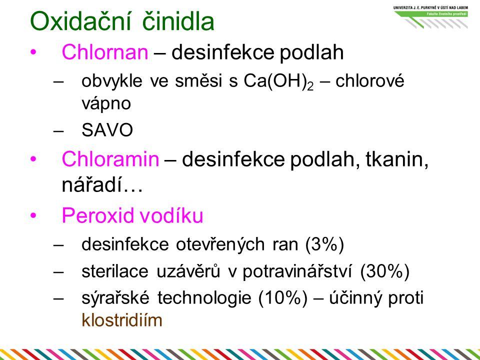Oxidační činidla Chlornan – desinfekce podlah