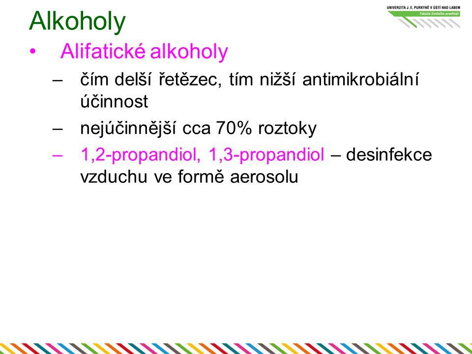 Alkoholy Alifatické alkoholy