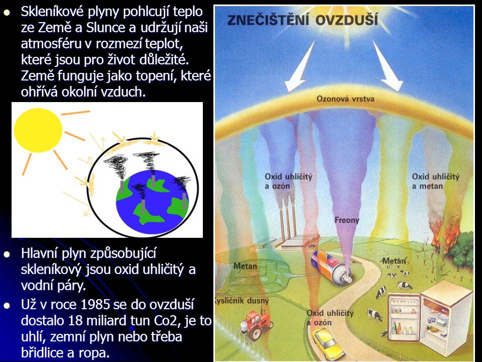 Skleníkové plyny pohlcují teplo ze Země a Slunce a udržují naši atmosféru v rozmezí teplot, které jsou pro život důležité. Země funguje jako topení, které ohřívá okolní vzduch.