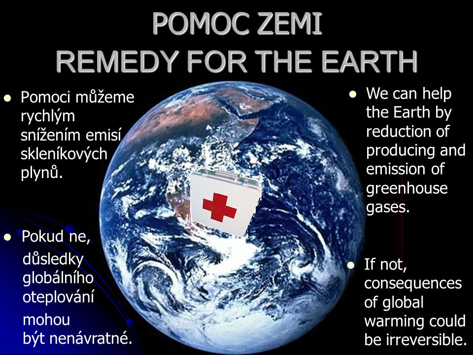POMOC ZEMI REMEDY FOR THE EARTH