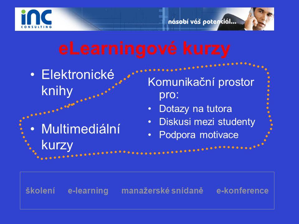 školení e-learning manažerské snídaně e-konference
