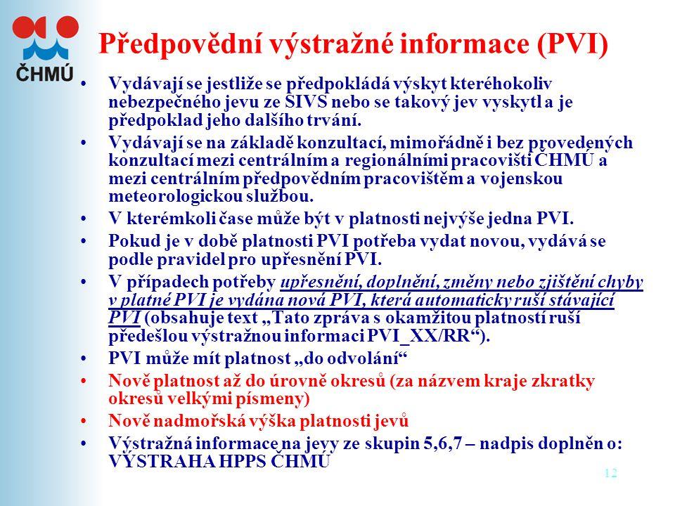 Předpovědní výstražné informace (PVI)