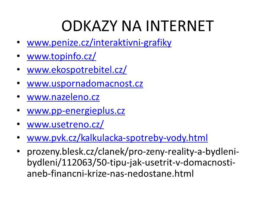 ODKAZY NA INTERNET www.penize.cz/interaktivni-grafiky www.topinfo.cz/