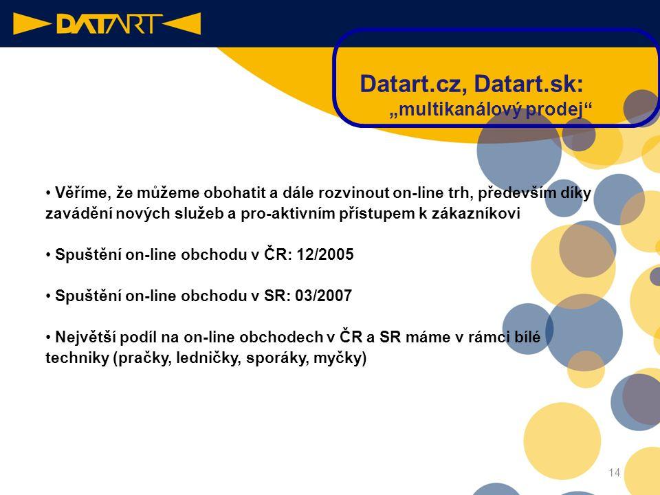 """Datart.cz, Datart.sk: """"multikanálový prodej"""