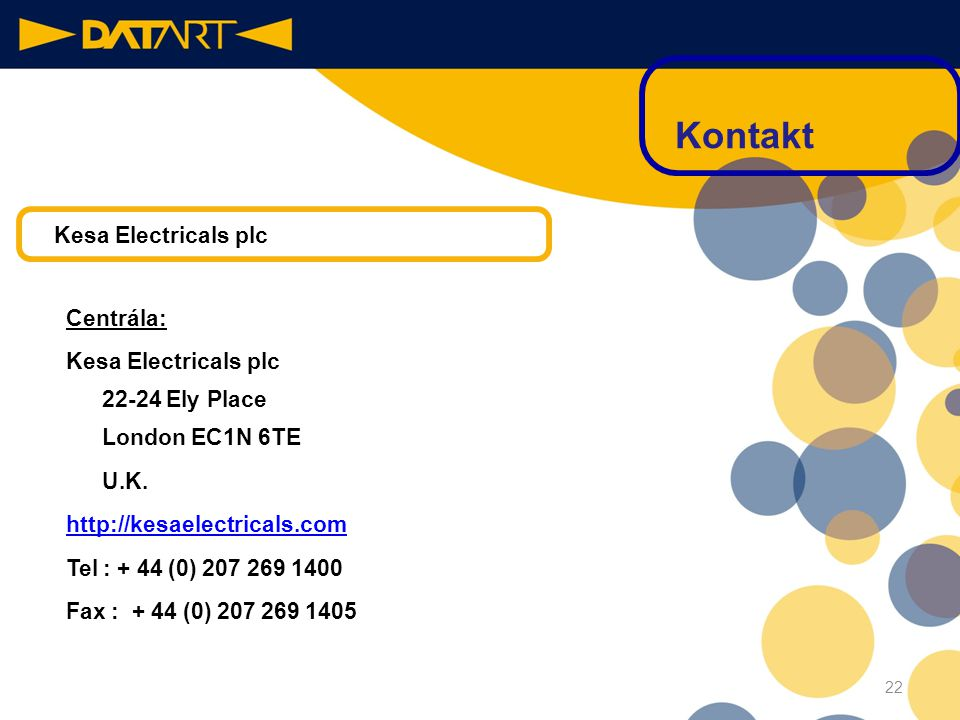 Kontakt Kesa Electricals plc