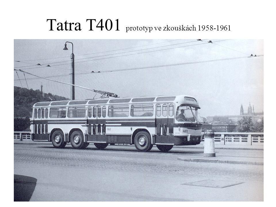 Tatra T401 prototyp ve zkouškách 1958-1961