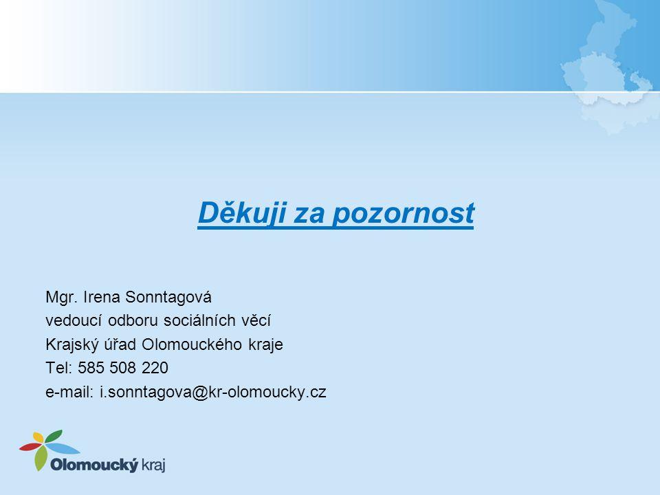 Děkuji za pozornost Mgr. Irena Sonntagová
