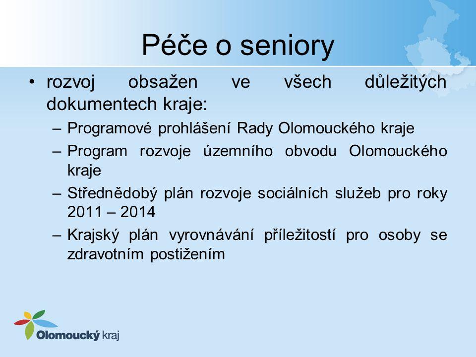 Péče o seniory rozvoj obsažen ve všech důležitých dokumentech kraje: