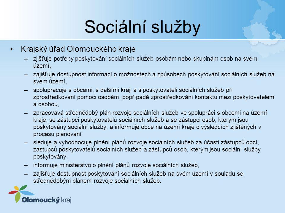 Sociální služby Krajský úřad Olomouckého kraje