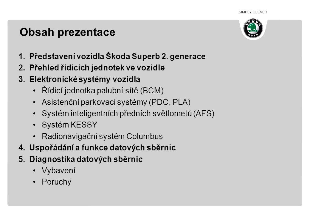 Obsah prezentace Představení vozidla Škoda Superb 2. generace