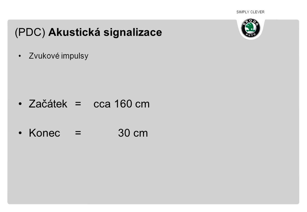 (PDC) Akustická signalizace