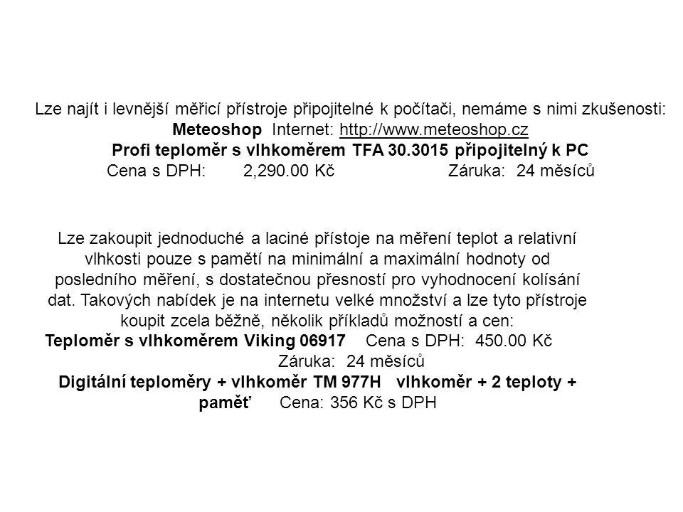 Profi teploměr s vlhkoměrem TFA 30.3015 připojitelný k PC