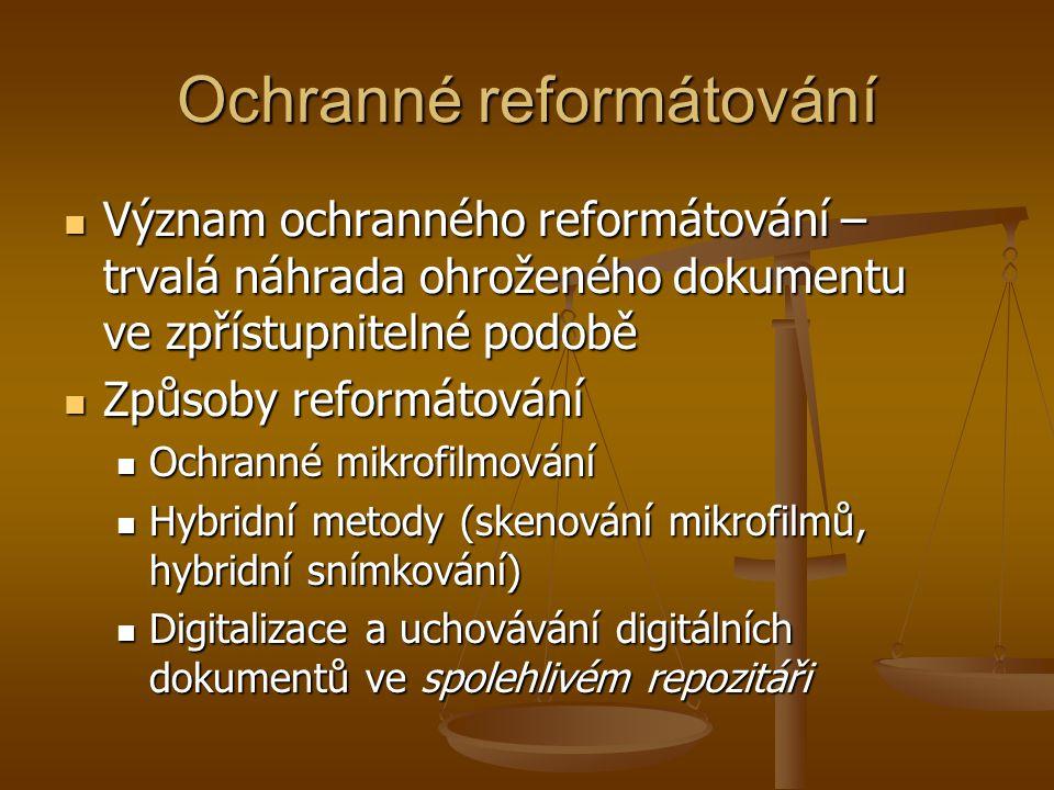 Ochranné reformátování