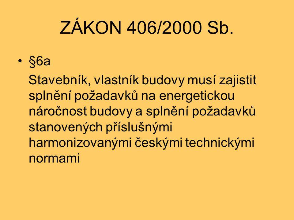 ZÁKON 406/2000 Sb. §6a.
