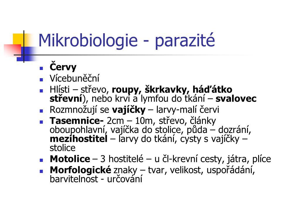 Mikrobiologie - parazité