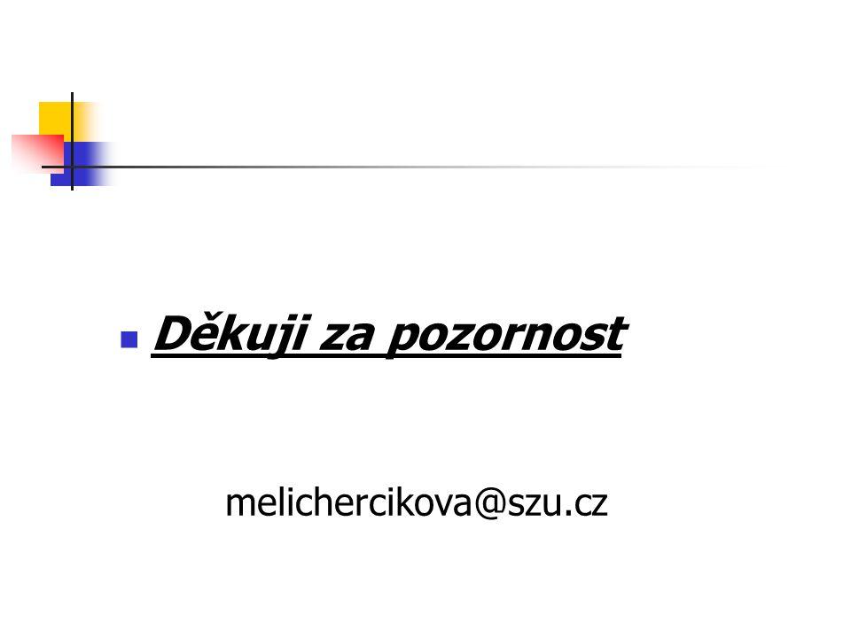 Děkuji za pozornost melichercikova@szu.cz