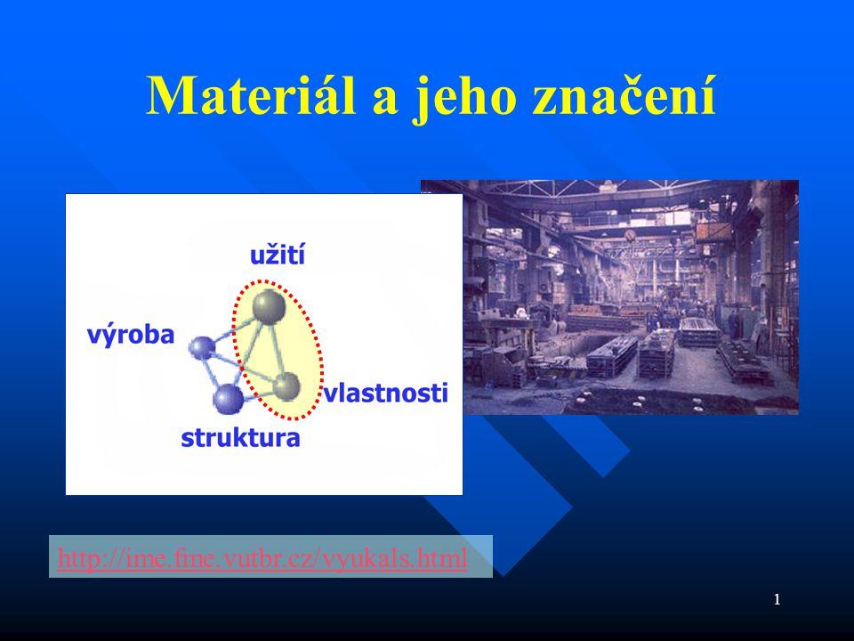 Materiál a jeho značení