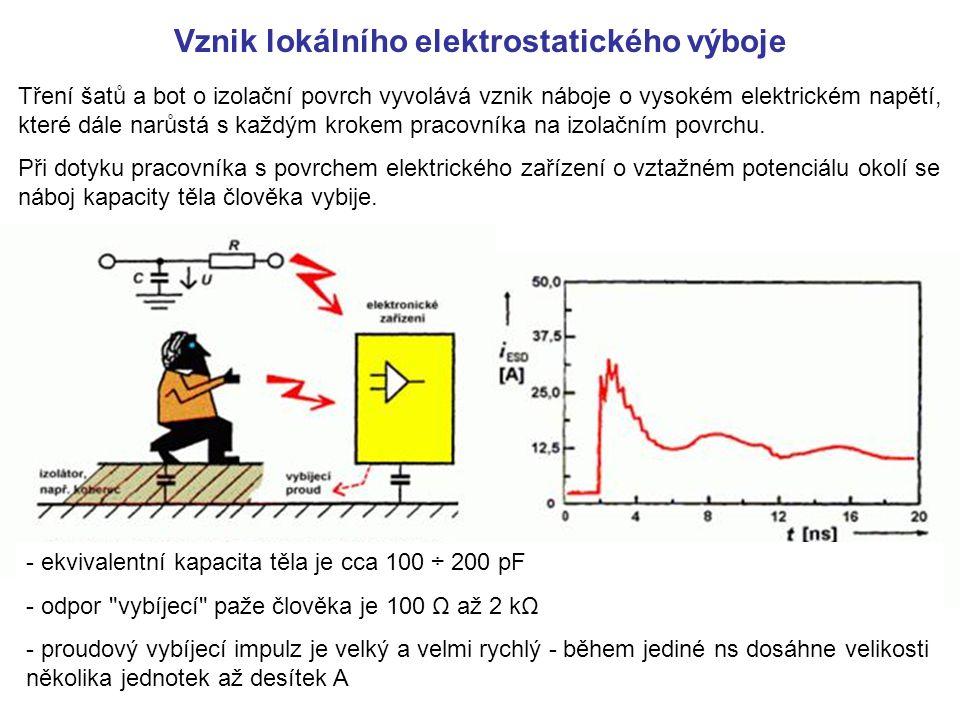 Vznik lokálního elektrostatického výboje