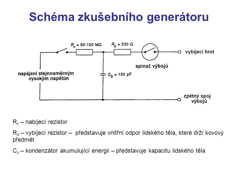 Schéma zkušebního generátoru