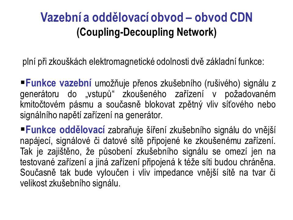 Vazební a oddělovací obvod – obvod CDN (Coupling-Decoupling Network)