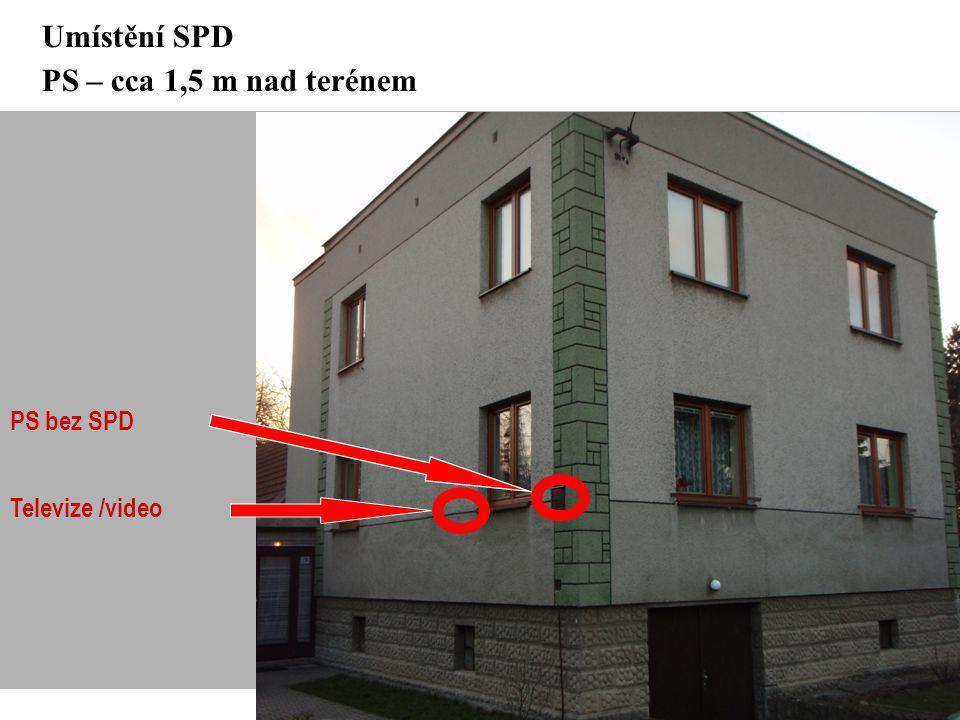 Umístění SPD PS – cca 1,5 m nad terénem
