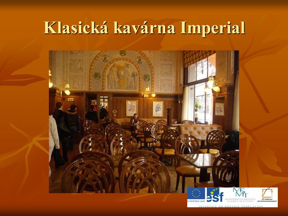 Klasická kavárna Imperial