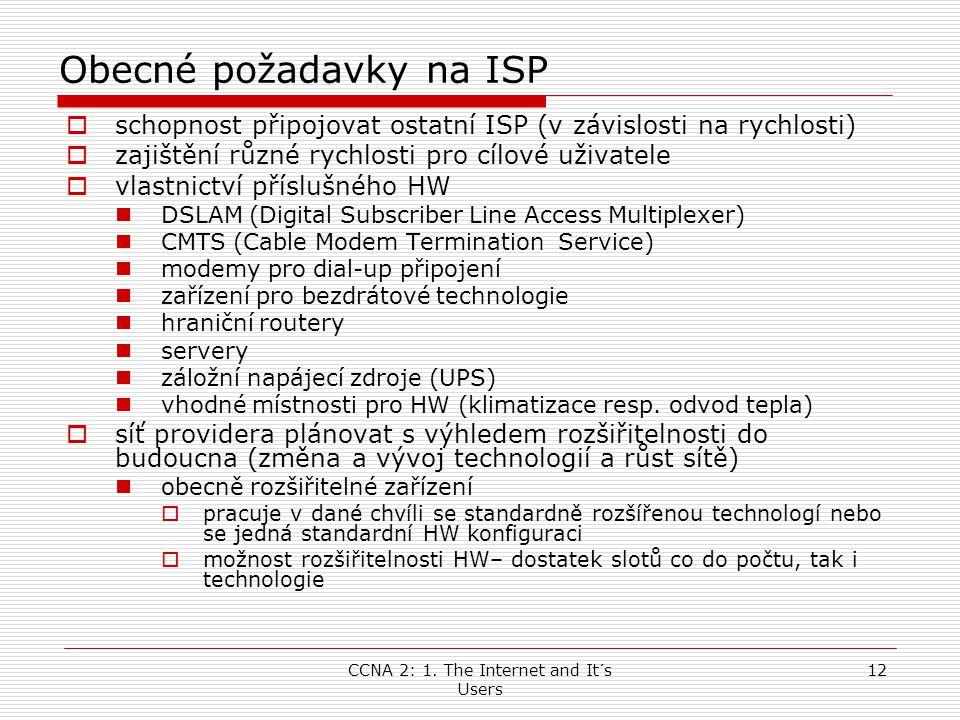 Obecné požadavky na ISP