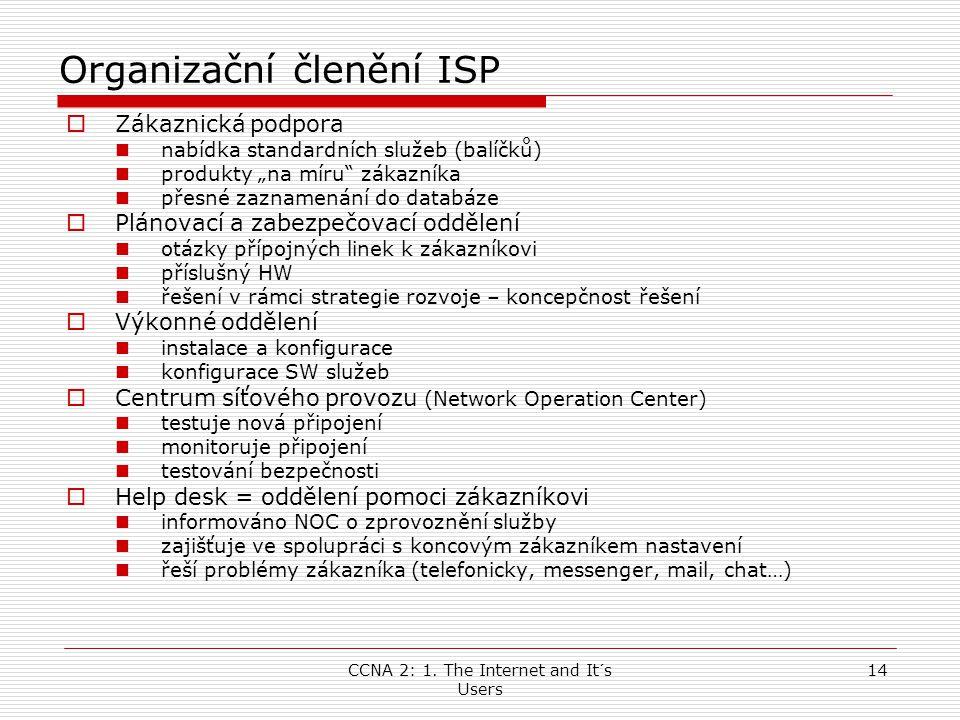 Organizační členění ISP