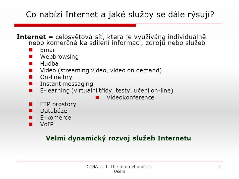 Co nabízí Internet a jaké služby se dále rýsují