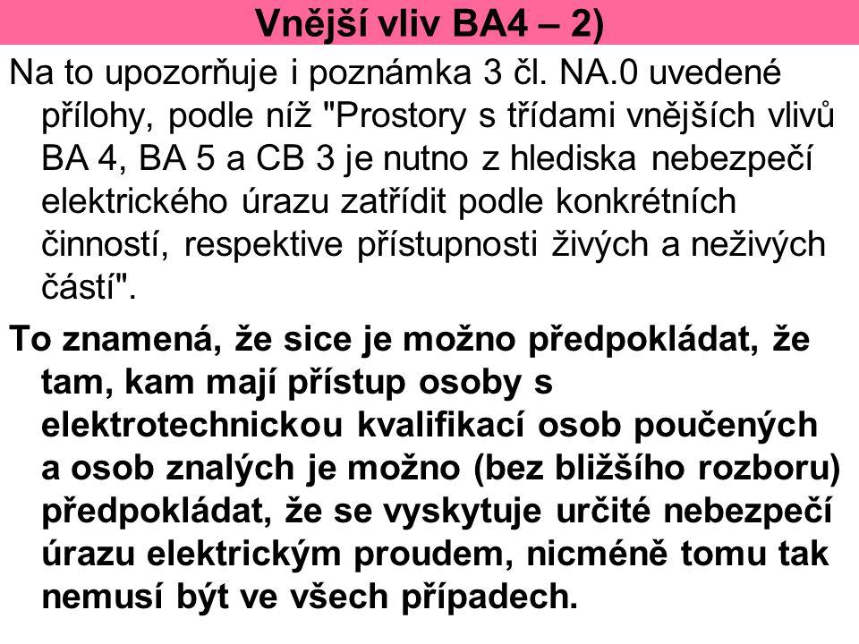 Vnější vliv BA4 – 2)