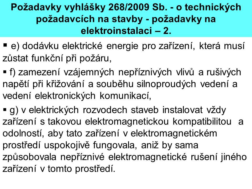 Požadavky vyhlášky 268/2009 Sb