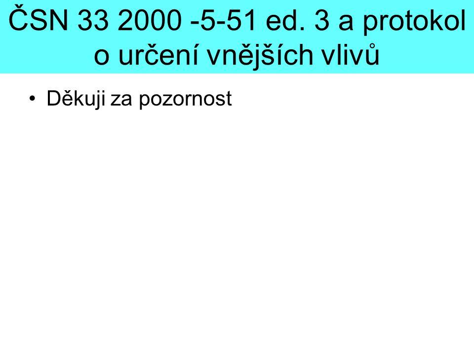 ČSN 33 2000 -5-51 ed. 3 a protokol o určení vnějších vlivů