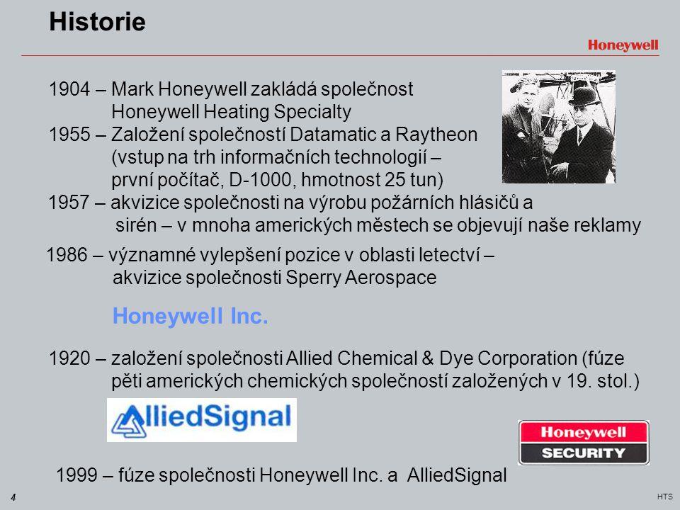 Historie Honeywell Inc. 1904 – Mark Honeywell zakládá společnost