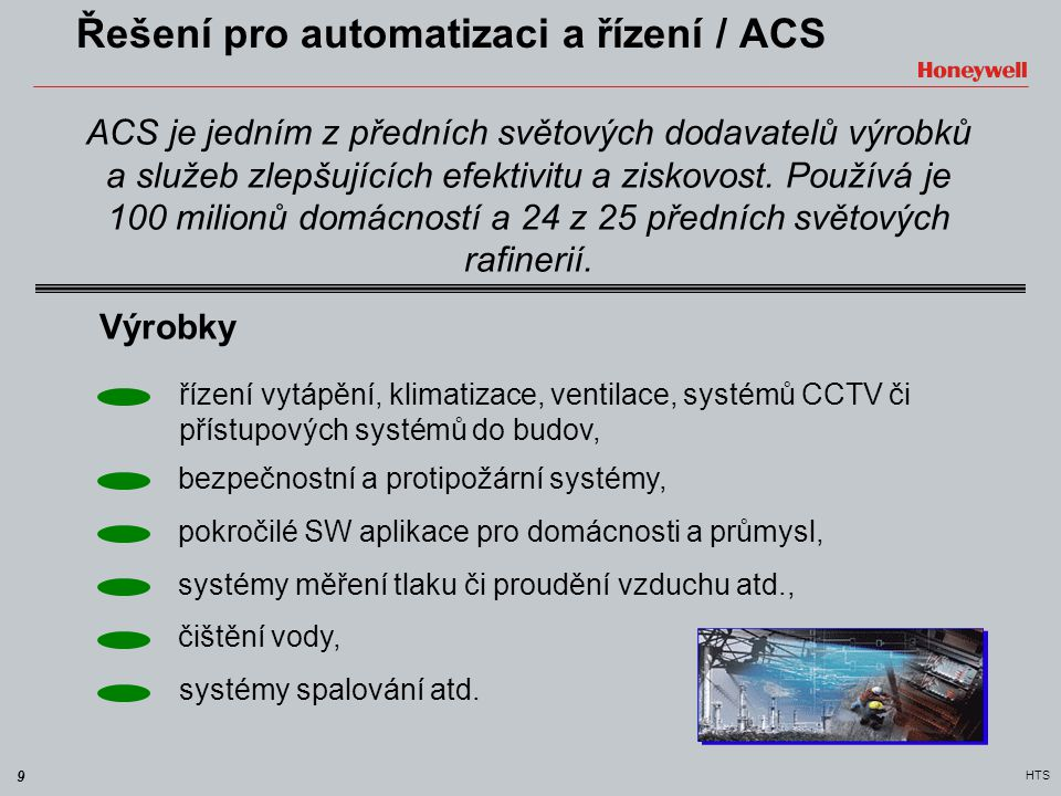 Řešení pro automatizaci a řízení / ACS