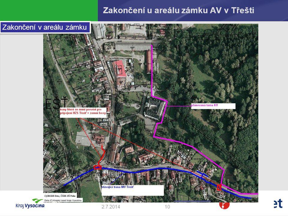 Zakončení u areálu zámku AV v Třešti
