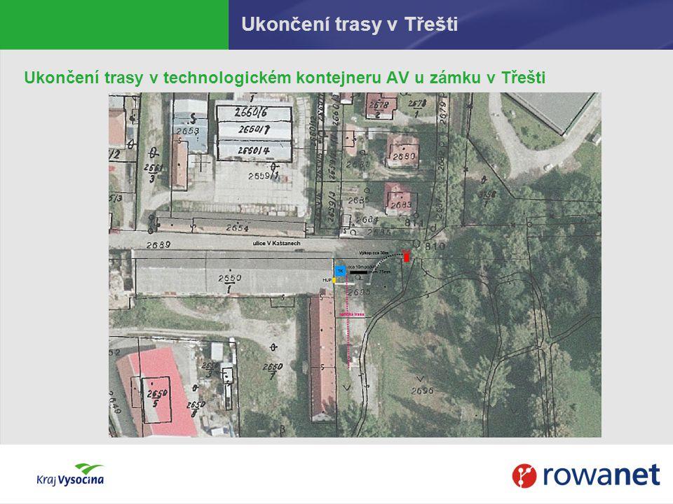 Ukončení trasy v Třešti