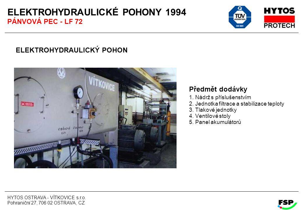 ELEKTROHYDRAULICKÉ POHONY 1994 PÁNVOVÁ PEC - LF 72