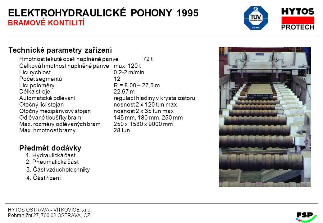 ELEKTROHYDRAULICKÉ POHONY 1995 BRAMOVÉ KONTILITÍ