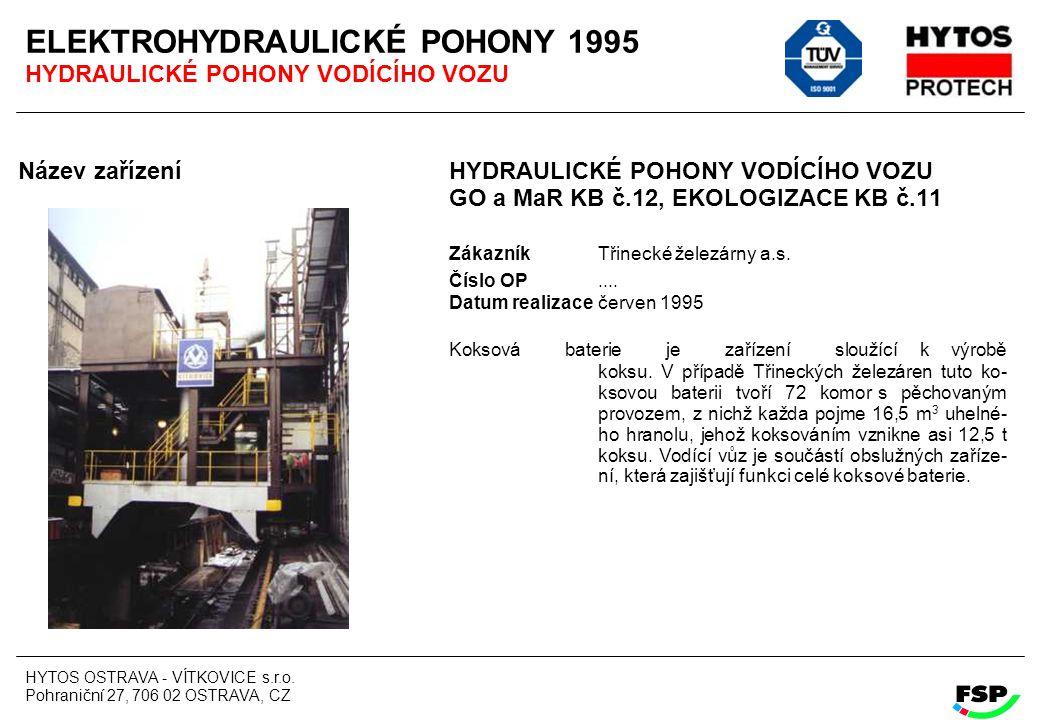 ELEKTROHYDRAULICKÉ POHONY 1995 HYDRAULICKÉ POHONY VODÍCÍHO VOZU