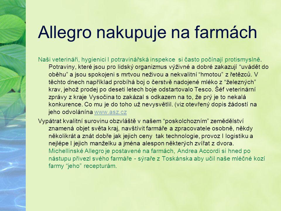 Allegro nakupuje na farmách