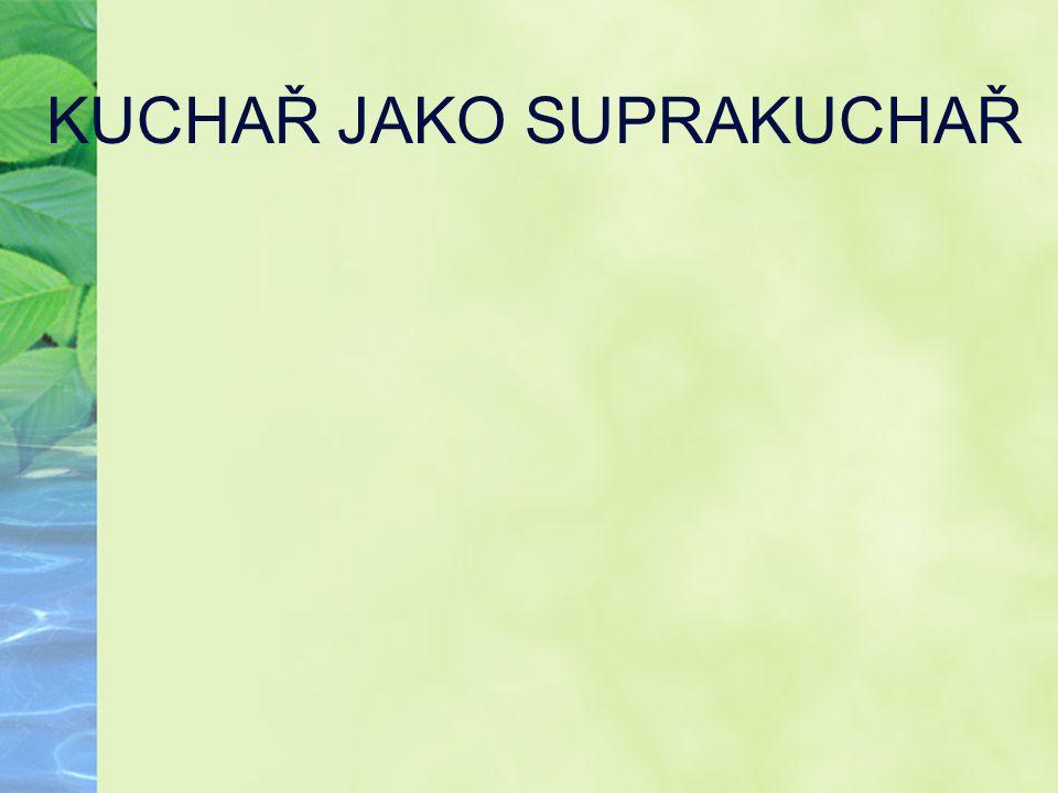 KUCHAŘ JAKO SUPRAKUCHAŘ
