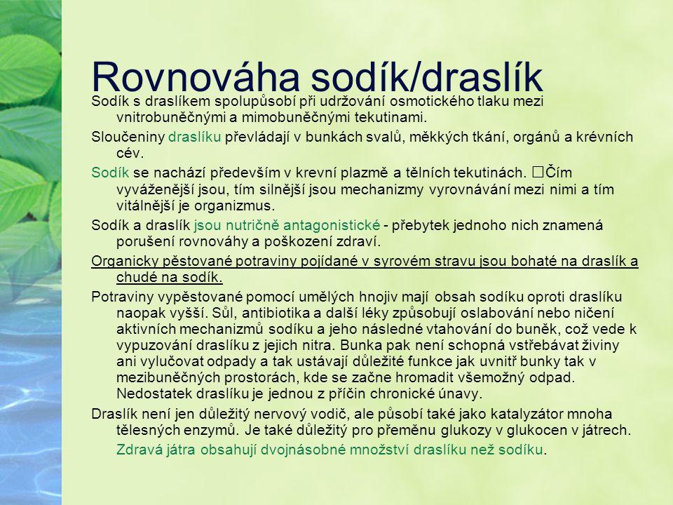 Rovnováha sodík/draslík