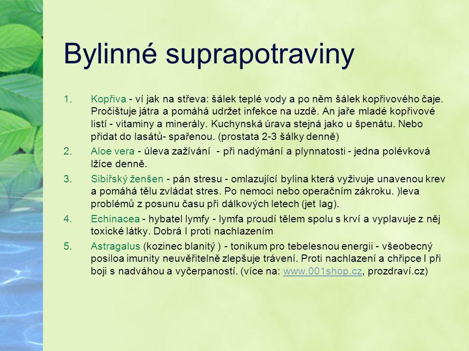 Bylinné suprapotraviny