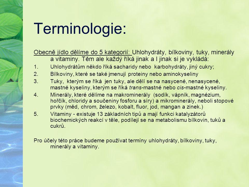 Terminologie: