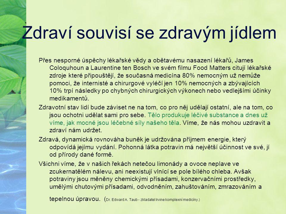 Zdraví souvisí se zdravým jídlem