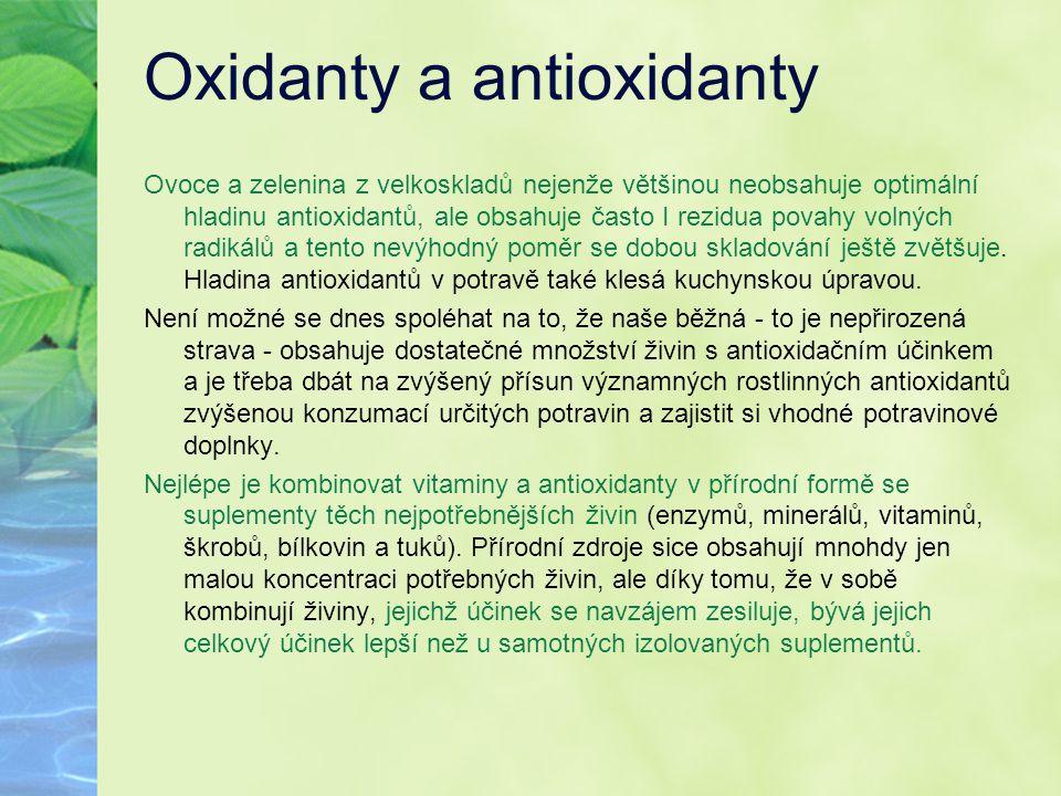 Oxidanty a antioxidanty