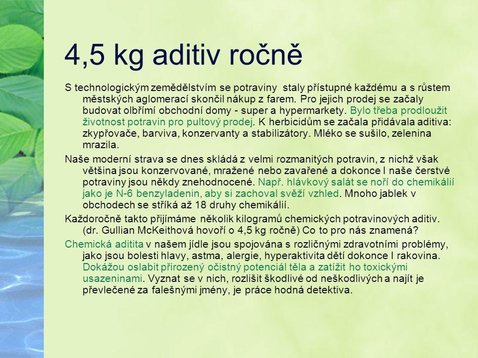 4,5 kg aditiv ročně